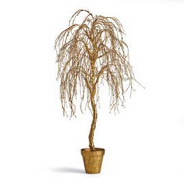 Gold Potted Umbrella Tree