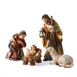 Holy Night Nativity Holy Family with Sheep
