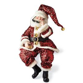 Doll-size Sequin Santa by Katherine's Collection