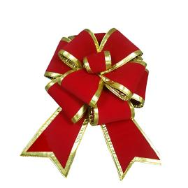 Red and Gold Multiloop Bow