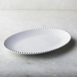 Costa Nova Pearl Oval Serving Platter in White