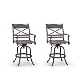 Set of Two Carlisle Swivel Bar Stools