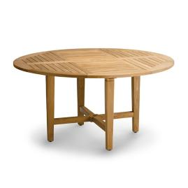 "Cassara 60"" Round Dining Table in Natural Finish"