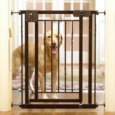 34 Inch Expanding Tension Mount Pet Gate Frontgate