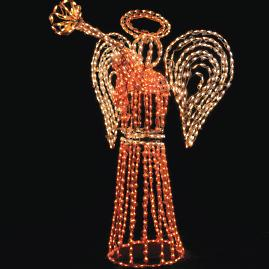 Outdoor Lighted Angel 6-ft. Display