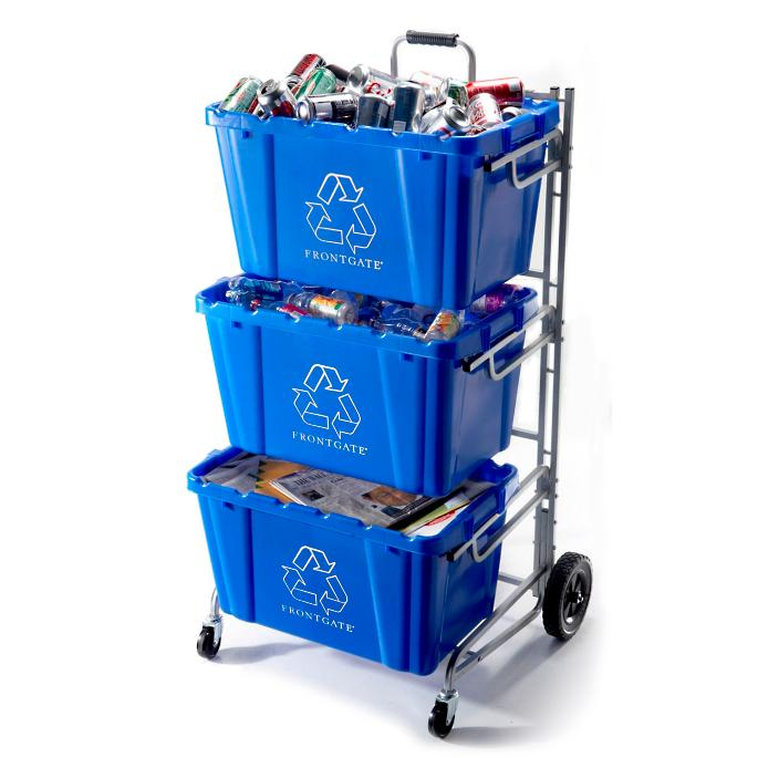 Recycling Bin Cart - Frontgate