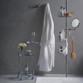 Stainless Steel Tension-mount Shower Butler