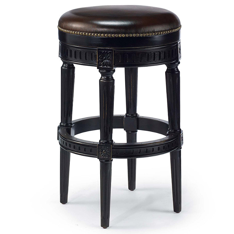 Leather Footrest Stool Frontgate