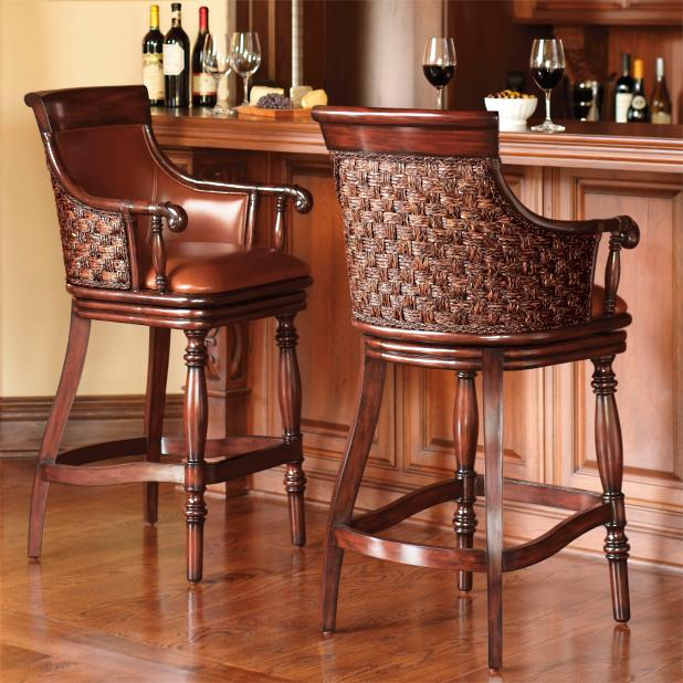 Marco Woven Back Bar Stool Frontgate