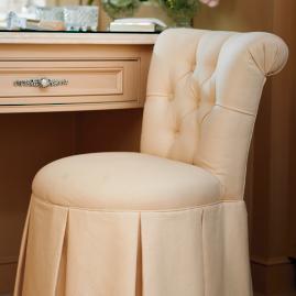 Marisa fringed vanity chair frontgate - Bathroom vanity chair with casters ...