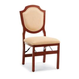 Shield-back Folding Chairs, Set of Two
