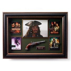 Pirates of the Caribbean Autographed Movie Collage
