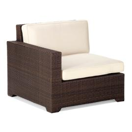 Palermo Left-facing Arm Chair with Cushions