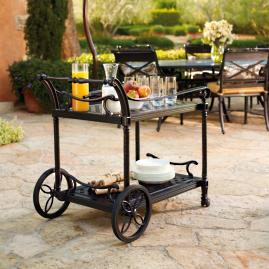 Carlisle Serving Cart in Onyx Finish