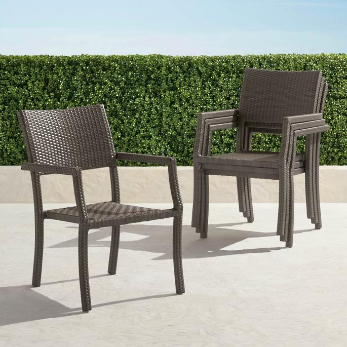Set Of Four Cafe Square Back Stacking Chairs Frontgate