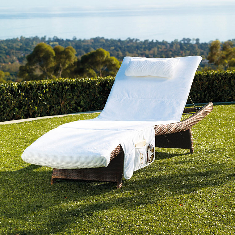 Chaise lounge cover frontgate for Chaise lounge covers cotton