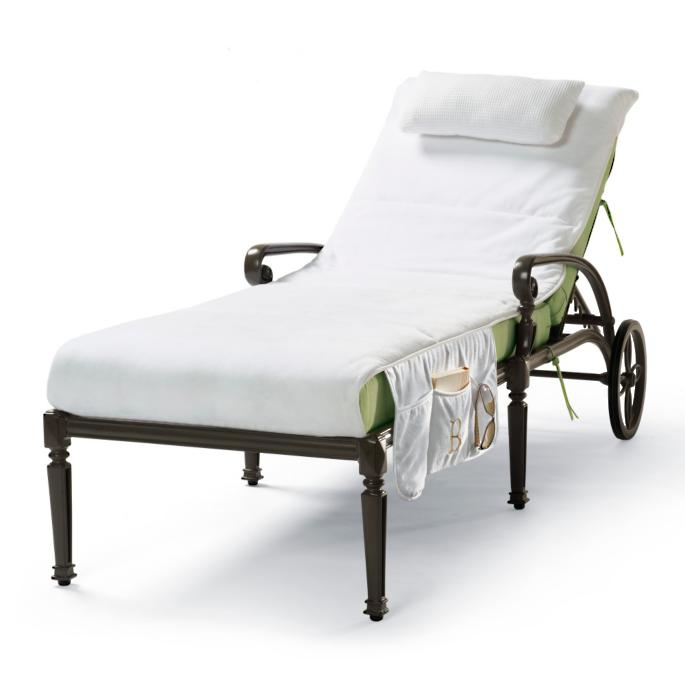 cushioned velour chaise covers frontgate. Black Bedroom Furniture Sets. Home Design Ideas