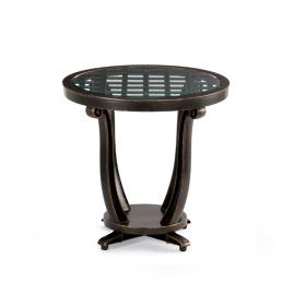 Glen Isle Glass-overlay Side Table in Midnight Gold