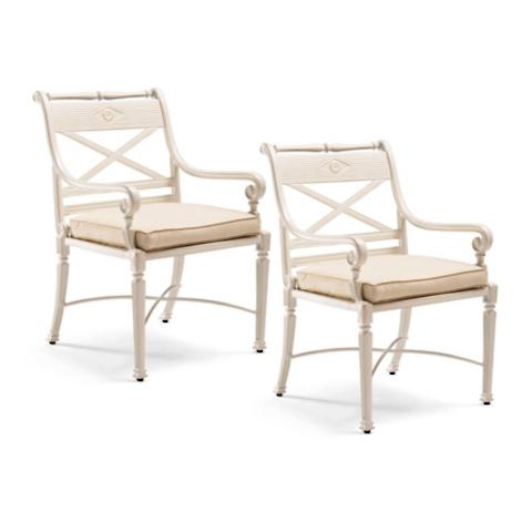 Carlisle Set of Two Dining Arm Chairs in Parisian Ivory  : 48189IVOmainwfbd from www.frontgate.com size 685 x 685 jpeg 25kB