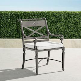 Carlisle Set of Two Slate Dining Arm Chairs