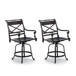 Carlisle Set of Two Swivel Balcony Bar Stools