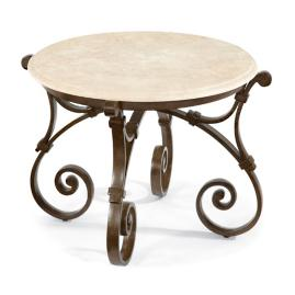 Maison Jardin Stone-top Side Table