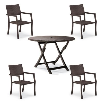 Cafe Square Back Chairs And Table Set Frontgate