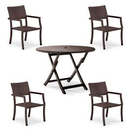 Cafe Square Back Chairs and Table Set