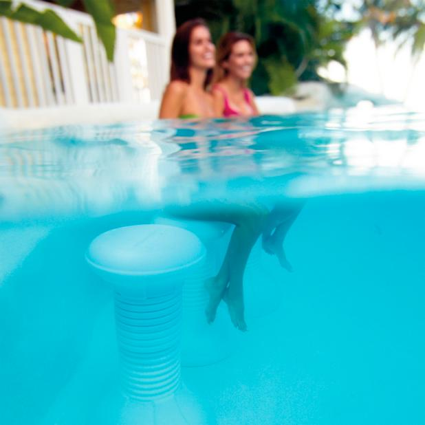 Multicolor Light Up Pool Stool Frontgate