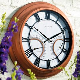 Oxford Outdoor Clock with Thermometer