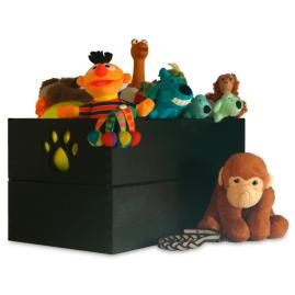 Paw Design Dog Toy Box