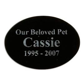 Laser Engraved Oval Pet Memorial Plaque