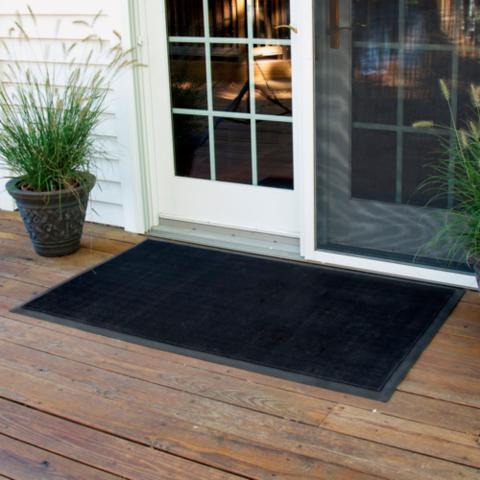 rubber brush door mat