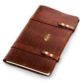 Monogrammed Legal Size Leather Portfolio