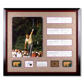 Jack Nicklaus Signed 1986 Masters Collage