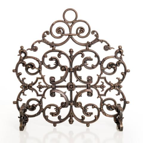 Classic One Panel Cast Iron Fireplace Screen with Arch - Classic One Panel Cast Iron Fireplace Screen With Arch - Frontgate