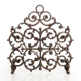 Classic Two Panel Cast Iron Fireplace Screen with