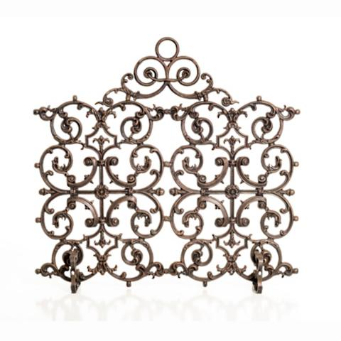 Classic Two Panel Cast Iron Fireplace Screen with Arch - Classic One Panel Cast Iron Fireplace Screen With Arch - Frontgate