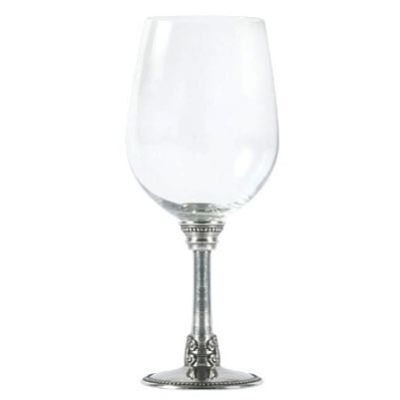 Medici Glass and Pewter Wine Goblets Frontgate