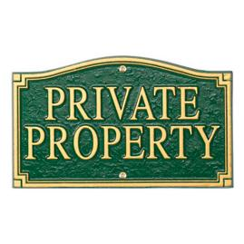 Private Property Plaque