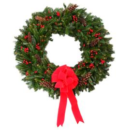 Fresh Blue Mountain Ridge Fraser Fir Wreath
