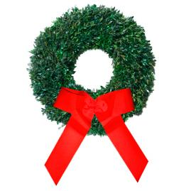 Fresh Distinctive Boxwood Holiday Wreath