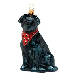 Black Lab with Bandana Ornament