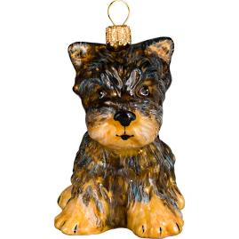 Yorkshire Terrier Puppy Ornament