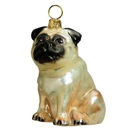 Fawn Pug Ornament