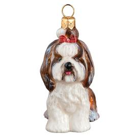 Shih Tzu with Top Knot Dog Ornament
