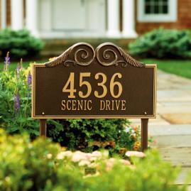 Regal Standard Address Plaque