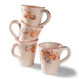 Set of Four Fiorentina Mugs