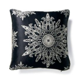 Black Snowflake Pillow