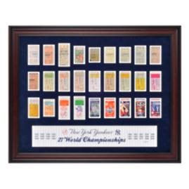Yankees 27-time World Series Ticket Framed Collage